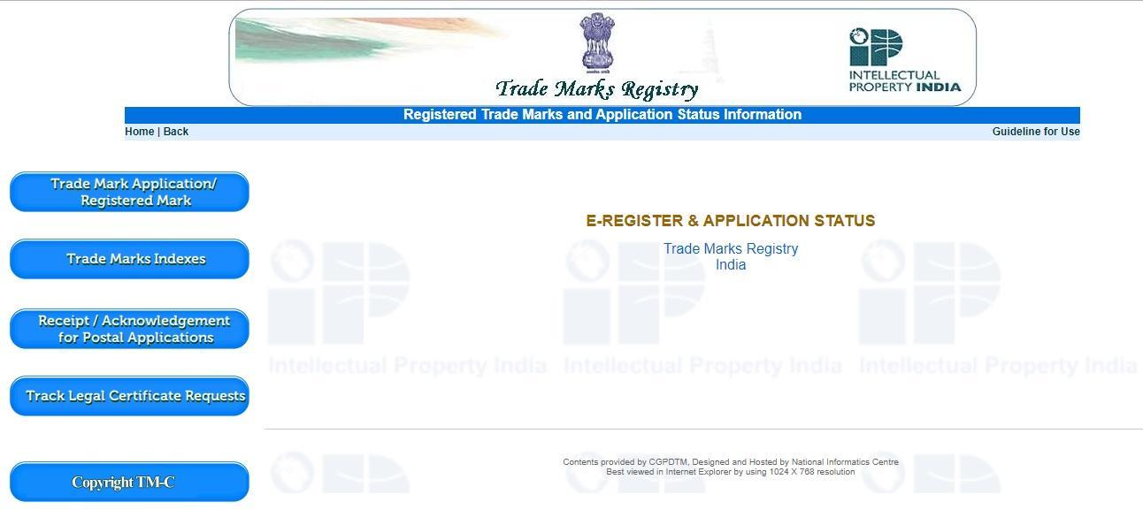 Trademark Application Status