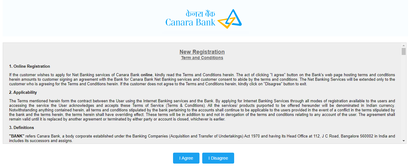 Canara Bank Registration 4