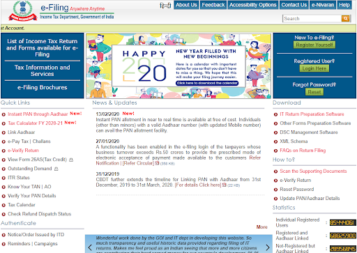 Income Tax Department Website