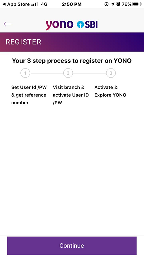 SBI Mobile Register 6