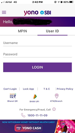 SBI Mobile Login 3