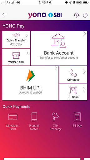 SBI Mobile Login 4