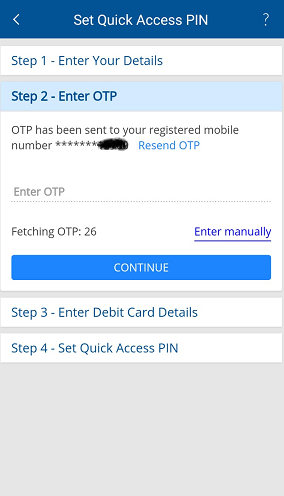 HDFC Mobile Register 6