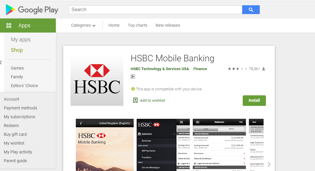 HSBC Registration 1