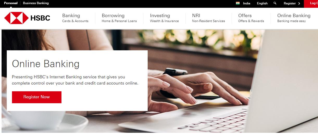 HSBC Netbanking Reg 1