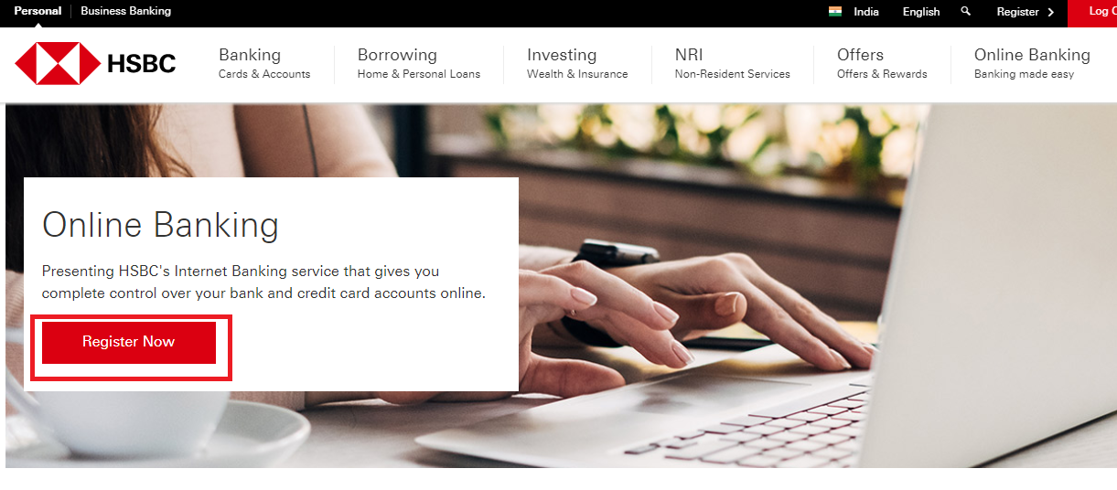 HSBC Netbanking Reg 2