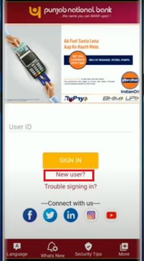 PNB Registration 2
