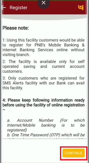 PNB Registration 3