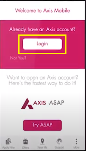Axis Mobile Registration 2