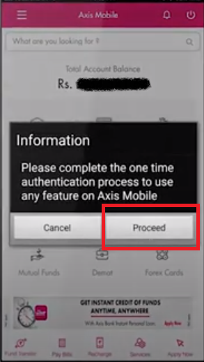 Axis Mobile Registration 7