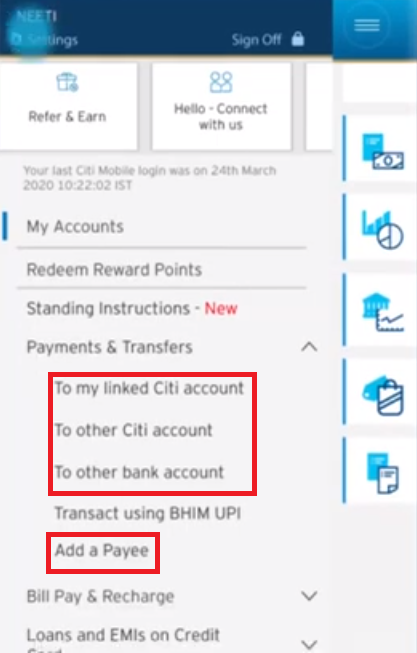 Citi Mobile Transfer 3