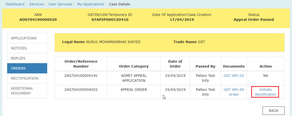 registration order appeal