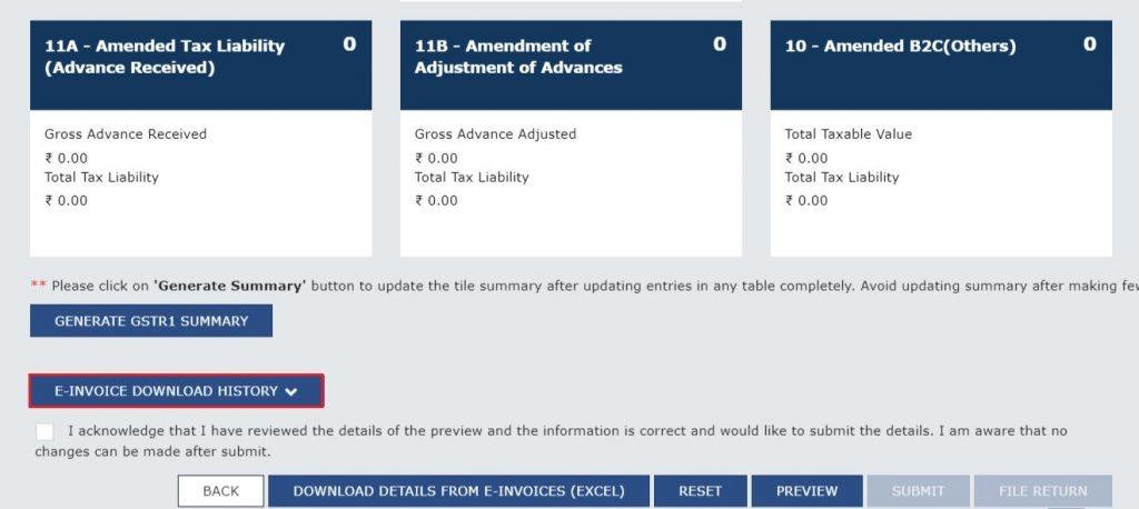 Modify e-invoice in GSTR-1 (5)