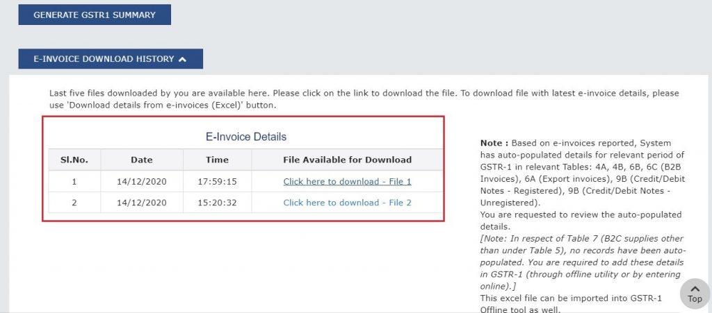 Modify e-invoice in GSTR-1 (6)