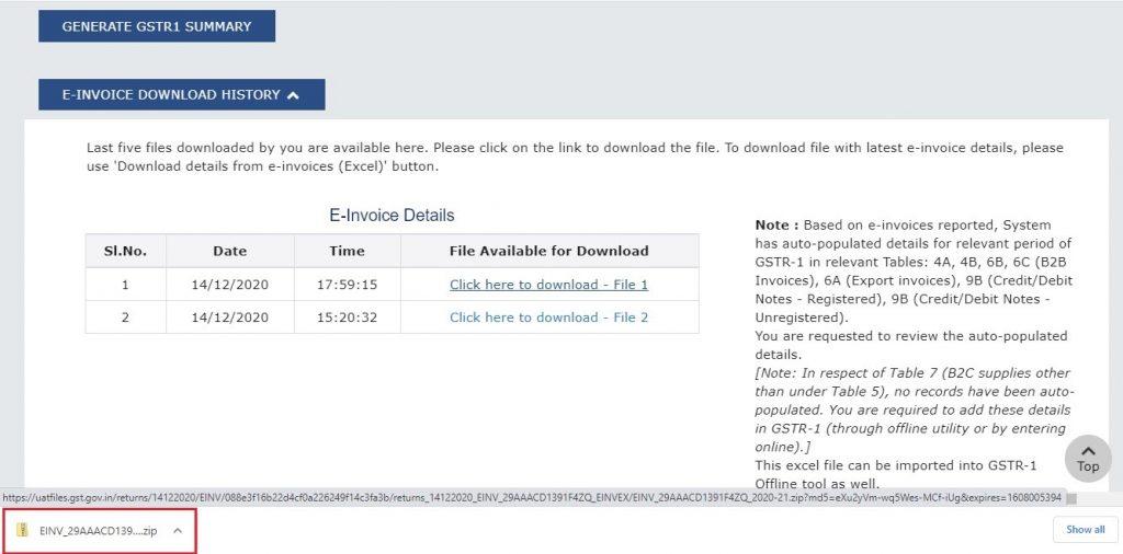 Modify e-invoice in GSTR-1 (7)