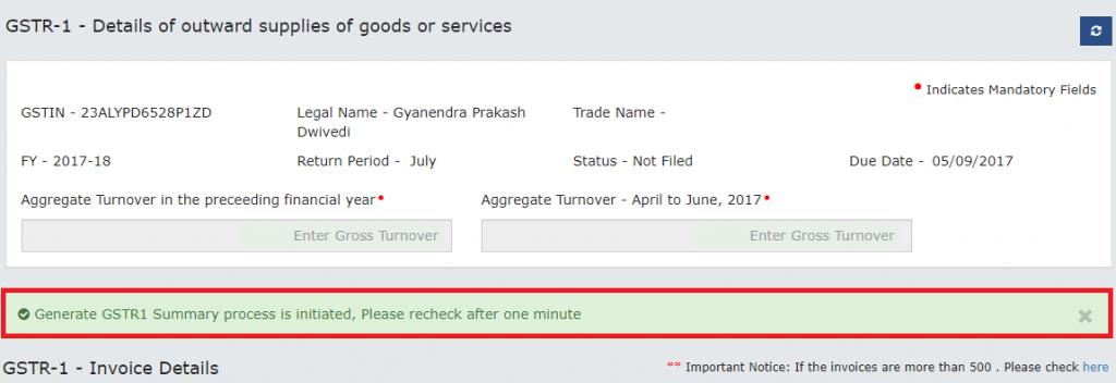 Modify e-invoice in GSTR-1 (22)