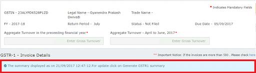 Modify e-invoice in GSTR-1 (23)