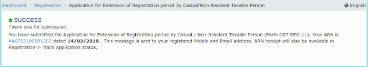 extension of registration period