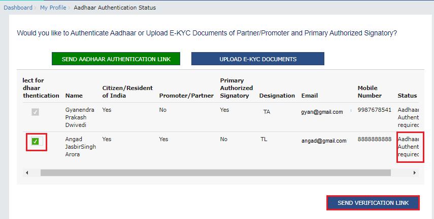 aadhaar authentication