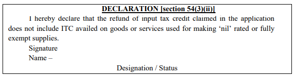 refund of accumulated ITC