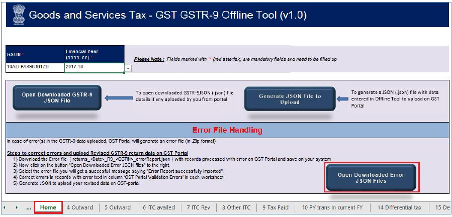 gstr-9 offline