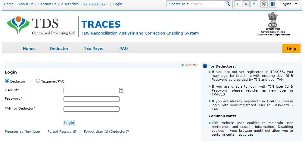 Register TRACES