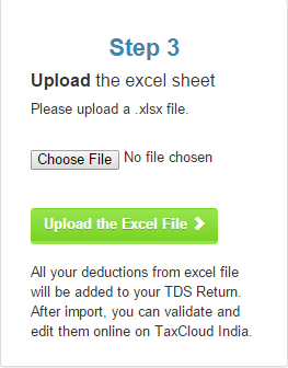 Step 4 of Import from Excel